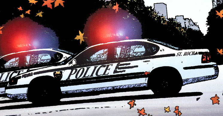 Hawkgirl #60 - NYPD Squad Car