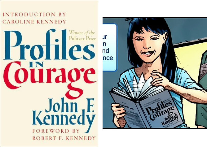 Profiles in Courage - Stealing Book Art